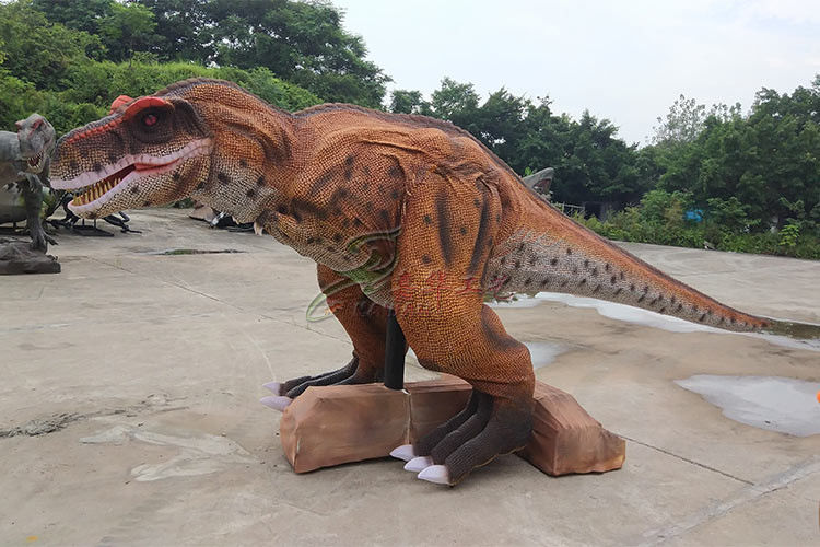 Photorealistic Stage Running Realistic Dinosaur Diorama Waterproof And Sun Protection